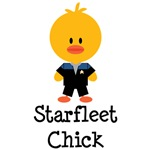 Blue Starfleet Chick Apparel and Voyager Gifts