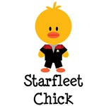 Red Starfleet Chick Apparel Voyager Gifts