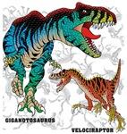 Rex and Velociraptor