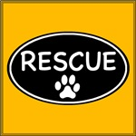 Rescue Black Oval
