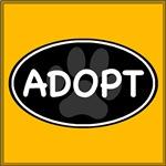 Adopt Paw Black Oval