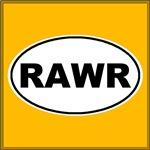 Rawr White Oval