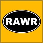 Rawr Black Oval