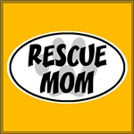 Rescue Mom White Oval