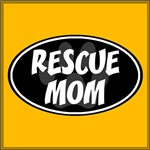 Rescue Mom Black Oval