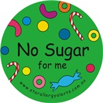 No Sugar for me-allergy alert