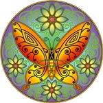 Celtic Butterfly (orange)