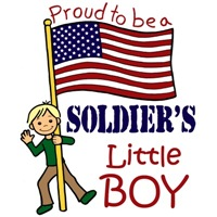 Proud to Be a Soldier's Little Boy (Blonde Hair) 