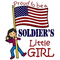 Proud to Be a Soldier's Little Girl (Black Hair)