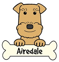 Airedale Terrier Cartoon T-Shirts and Gifts