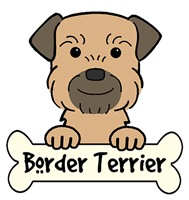 Border Terrier Cartoon T-Shirts and Gifts