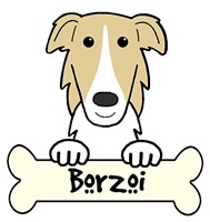 Borzoi Cartoon T-Shirts and Gifts