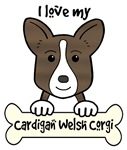Brindle Cardigan Welsh Corgi Cartoon