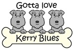 Three Kerry Blues