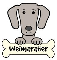 Weimaraner Cartoon T-Shirts and Gifts