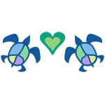 Peace Heart Sea Turtles