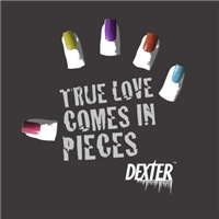 True Love Comes in Pieces is an excellent Offically licensed Dexter Tshirt from your favorite Dexter television series.  Show your inner geek for Dexter with this great design.