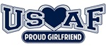 T-shirts, hats, mugs, stickers and gift items for Air Force Girlfriend