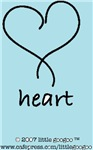 BLUE LOVE HEART- for boy