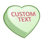 Green Custom Candy Heart