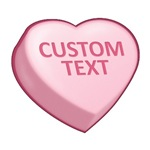 Red Custom Candy Heart