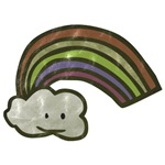 Vintage Smiling Cartoon Rainbow