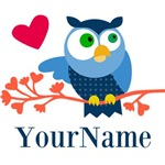 Blue Owl (personalizeable)