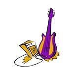 guitar amp purple gold musical instrument