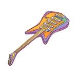 pastel electric guitar graphic music