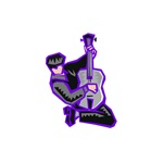 purple kneeling guitarist