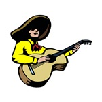 guitar player mexican yellow shirtted
