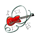 guitar bastract swirls music design