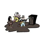 cartoon band musicians