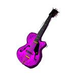 purple semi hollow electric guitar