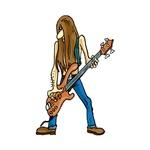 Long hair guitarist