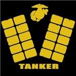 USMC TANKER FOOTSTEPS T-Shirt & Gifts