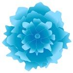 Floating Tropical Blue Flower