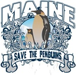 Save the Penguins Maine T-Shirts and Gifts