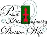 Proud 32nd Infantry Wife Heart.