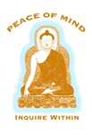 Peace of Mind Inquire Within Buddha