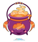 Kawaii Pumpkin Cauldron