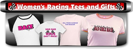 Women's Racing T-Shirts and Gifts