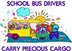 School Bus Drivers Carry Precious Cargo