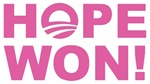 Hope Won (Obama - Pink) 