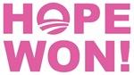 Hope Won (Obama - Pink)