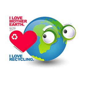 I Love Mother Earth. I love Recycling.