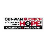 Obi-Wan Kucinich Stickers, Buttons & Magnets