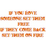 If You Love Someone Set Them Free If They Come Bac