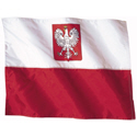 Wavy Poland Flag