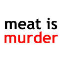 meat is murder t-shirt & gift